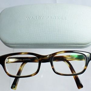 Warby Parker Green Tortoise Prescription Glasses